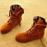 Concise Comfortable Lace-up Suede Ankle Boots