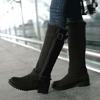 Buckle Fashion Comfortable Knee High Snow Boots