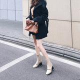 Fashion Chain Zipper Casual Ankle Boots