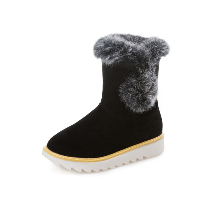 Suede Comfortable Slip-On Snow Boots