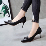 Autumn and winter, single shoes, fashion, sharp and high-heeled shoes.