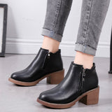 Casual Cotton Side Zipper Women's Ankle Boots