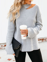 Plain Regular Fall Long Sleeve Sweater