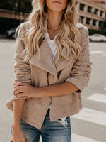 Khaki Loose Long Sleeve Standard Jacket