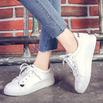 Lace-Up Platform Round Toe Low-Cut Upper Flat With PU Sneakers