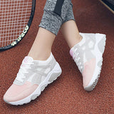 Lace-Up Round Toe Platform Low-Cut Upper Casual Color Block Sneakers