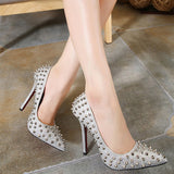 Rivet Sexy Pointed Toe Stiletto Heels