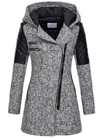 Zipper Contrast Color Women's Jacket
