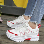 Lace-Up Low-Cut Upper Round Toe PU Casual Sneakers