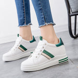 Low-Cut Upper Lace-Up Platform Round Toe Casual Flat With Sneakers