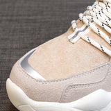 Stylish Low Upper Lace-Up Platform Round Toe Casual Sneakers