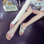 Flip Flop Slip-On Sequin Flat With Casual Compound Slippers