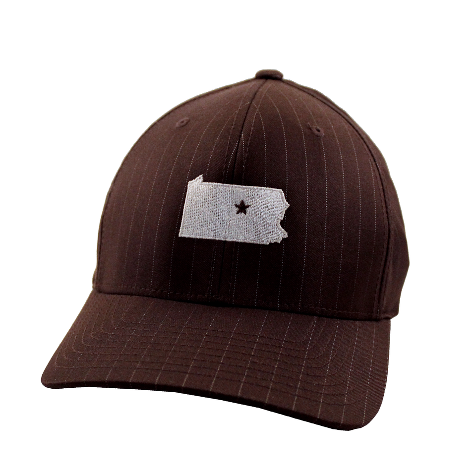 Brown Pinstripe Collection Cap