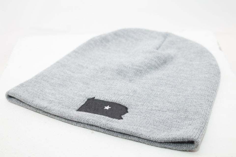 Grey & Black Winter Collection Beanie
