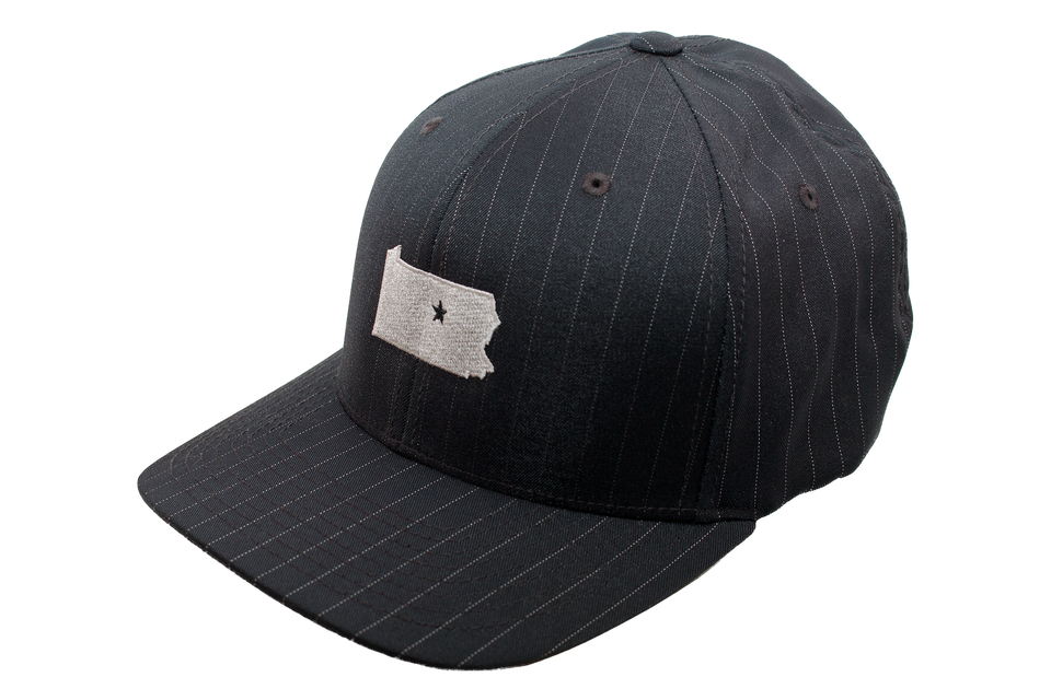 Black Pinstripe Collection Cap