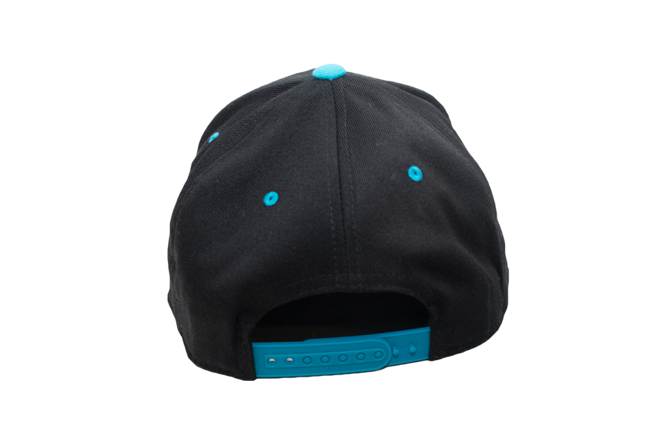 Black & Cyan Dual Collection Cap