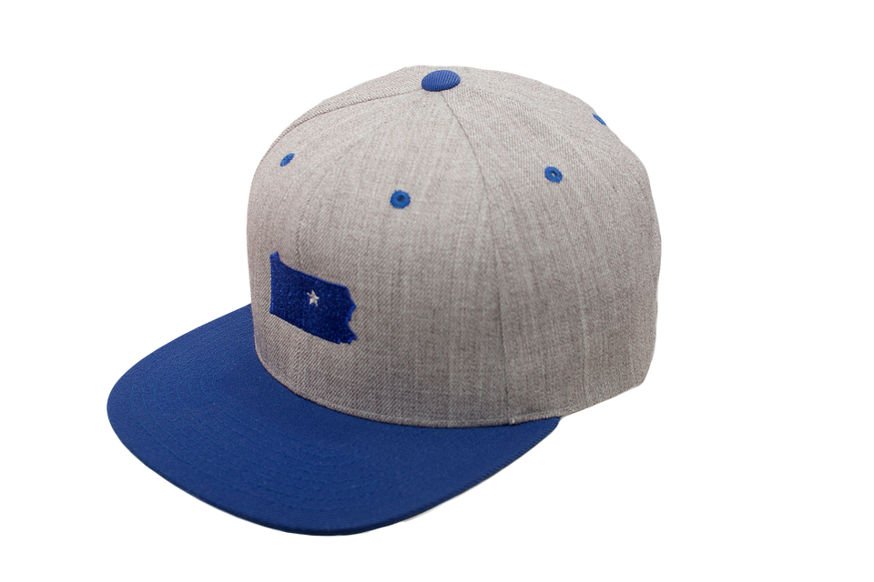 Grey & Blue Dual Collection Cap