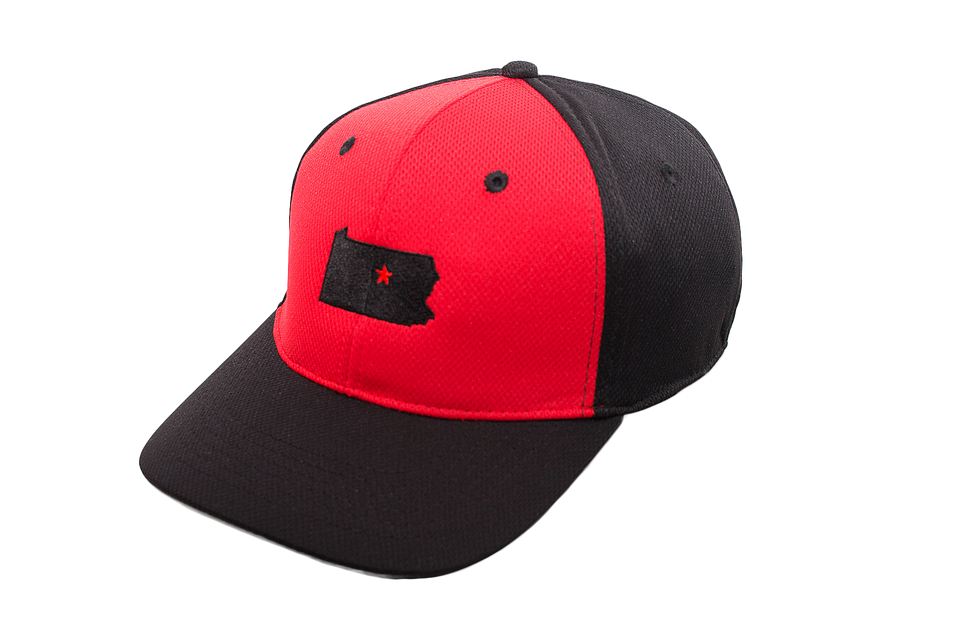Red & Black Panel Collection Cap