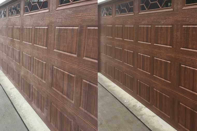 Best way to clean your garage door? Use AL-NEW and see the before and after difference!