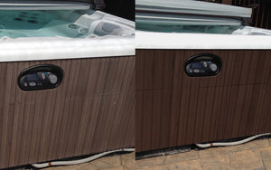 Clean hot tub siding and jacuzzi siding with AL NEW aluminum restoration solution. Avoid expensive replacements or buying brand new.