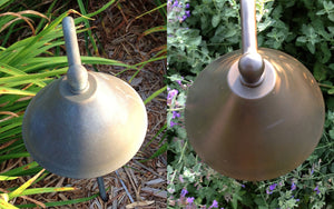 ALNEW restores original shine and luster to outdoor metal light fixtures. It's a great way to clean them.