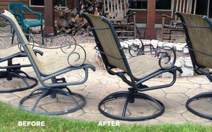 AL-NEW (alnew) is an aluminum restoration solution that is a great cleaner for patio furniture.