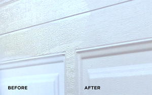 Alternative to replacing a garage door. Restore and renew garage doors with AL-NEW aluminum restoration solution.
