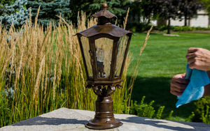 The best way to clean outdoor lights. The easiest way to restore your outdoor lighting fixtures.