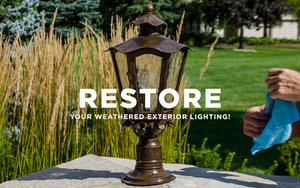 Restore your weathered and oxidized outdoor lighting fixtures.