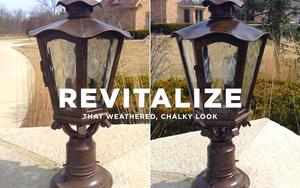How to make outdoor lights look new? AL-NEW is an aluminum restoration solution that is perfect for restoring your weathered and oxidized light fixtures.