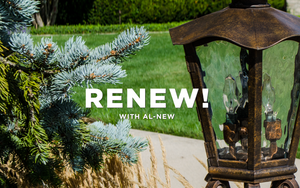 The best way to renew and restore your outdoor lighting fixtures is to use AL-NEW aluminum restoration solution.