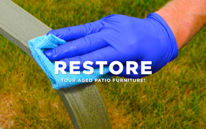 How to clean aluminum patio furniture.