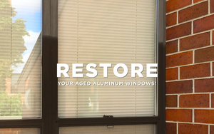 The best way to clean aluminum window frames is using al new.