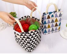 Load image into Gallery viewer, Thermally insulated coton lunch bag
