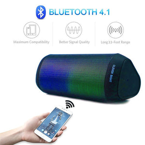 Wireless bluetooth speaker with visual LED display
