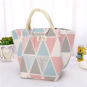 Thermally insulated coton lunch bag