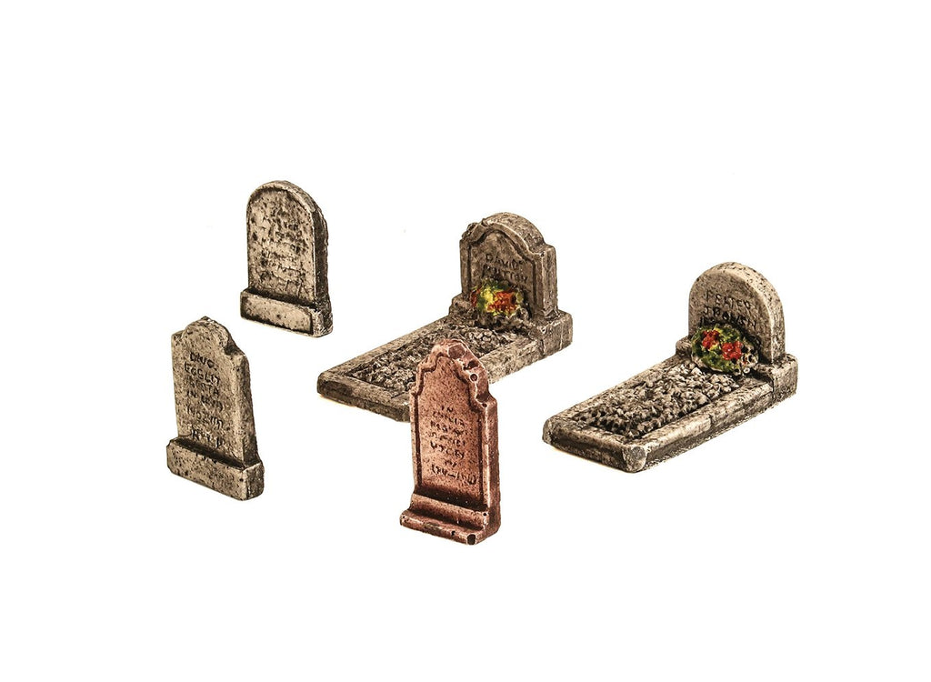 Harburn Hamlet - OO Gravestones Assorted Pack of 5 - CG270