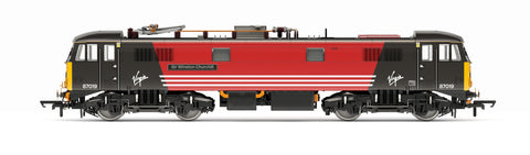Hornby - OO Virgin Trains, Class 87, Bo-Bo, 87019 'Sir Winston Churchill' - Era 9 - R3656
