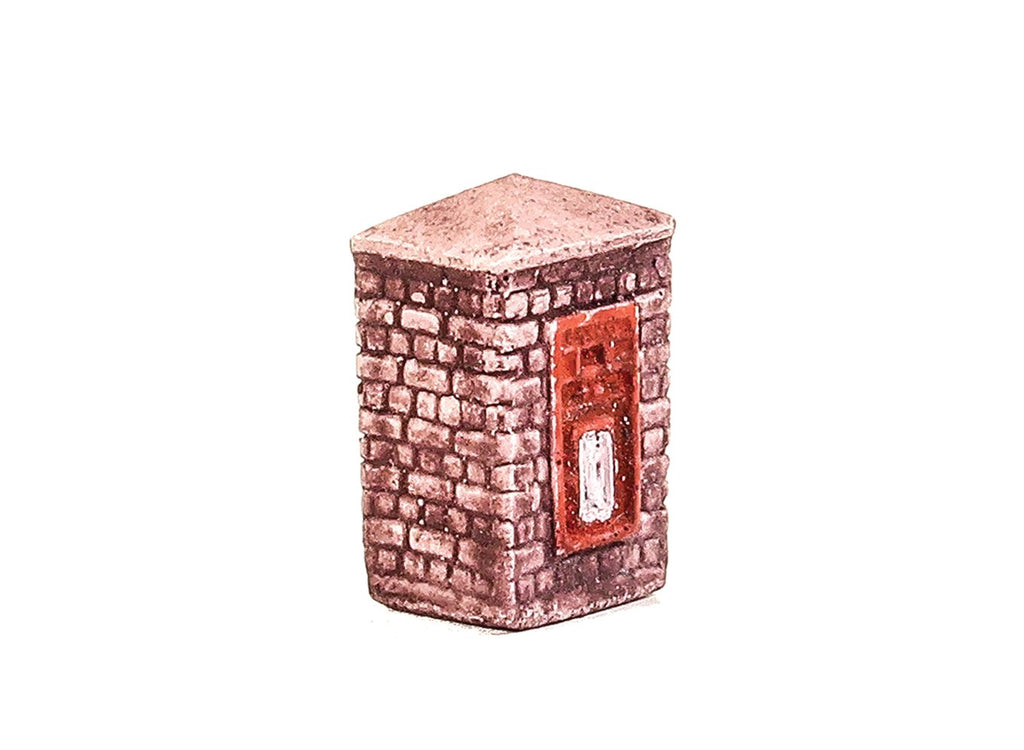 Harburn Hamlet - OO Post Box in Brick Column - SS339