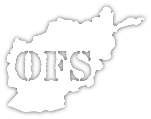 OFS Afghanistan Decal - White