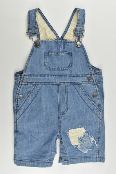 Anevwee (US) Size 0 (6-12 months) Short Denim Overalls