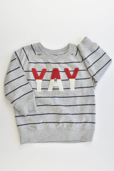 Anko Size 1 'Yay' Striped Sweater