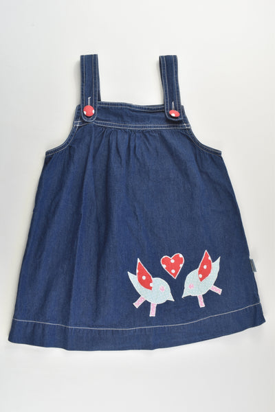 Anna & Sally (AU) Size 4 Lightweight Birds Denim Dress