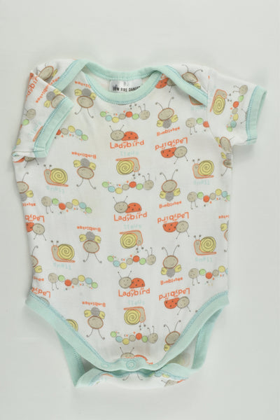 Baby Club Size 000 Bumblebees and Other Animals Bodysuit