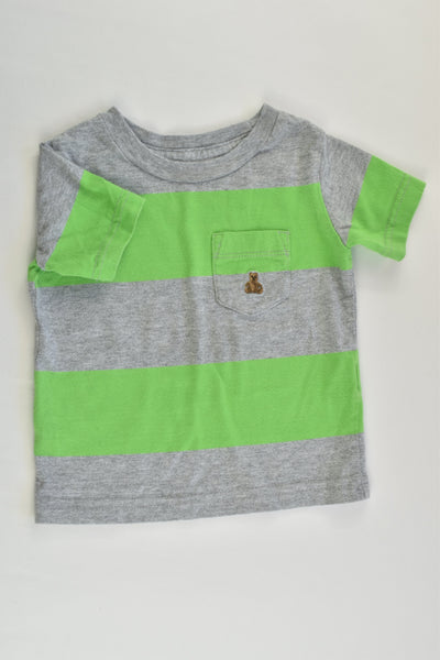 Baby Gap Size 00 (3-6 months) Striped T-shirt