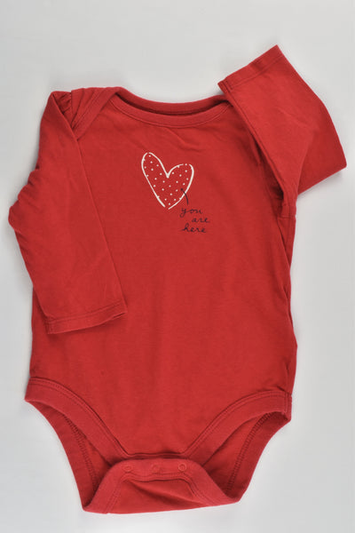 Baby Gap Size 00 (3-6 months) 'You Are Here' Bodysuit