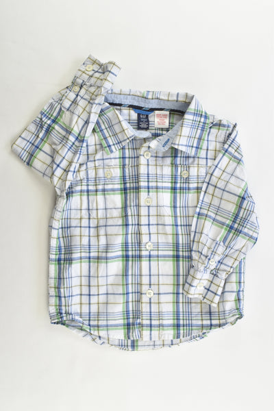 Baby Gap Size 3 Checked Collared Shirt