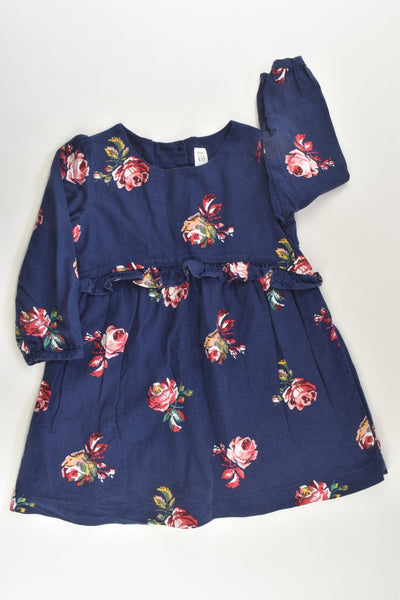 Baby Gap Size 3 Lined Roses Dress