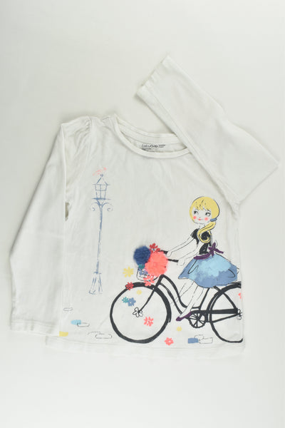 Baby Gap Size 4 Girl and Bike Top