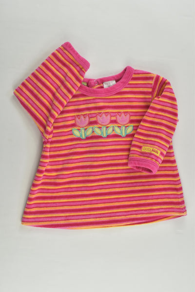 Baby Kids Australia Size 000 Three Tulipans Velour Jumper